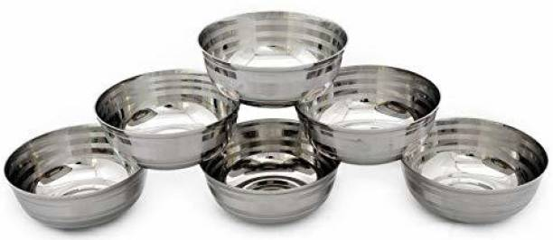 RBGIIT Dessert / Pasta / Vegetables / Daal / soup / Sabzi / Milk / Buttermilk / Salad / Serve food / Fruits / Dish Full Sets Of Bowls bowls Stainless Steel Stainless Steel Disposable Dessert Bowl