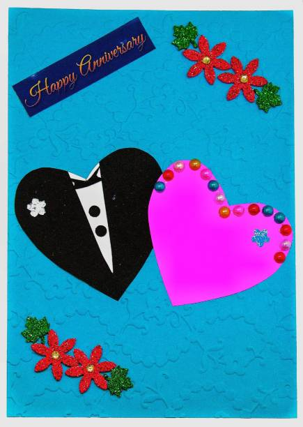 AanyaCentric Husband & Wife Anniversary Handmade Greeting Card