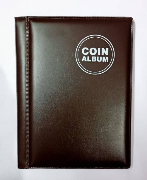 rci Coin Album for Keeping 60 Coins collection Dark Brown Color Coin Bank