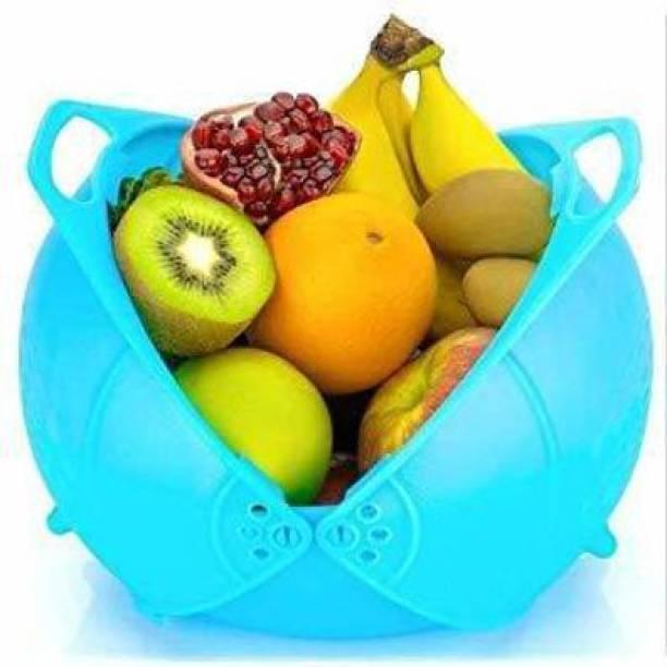 USPECH Plastic Fruit & Vegetable Basket Collapsible Colander