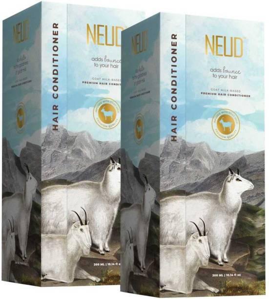 NEUD Goat Milk Premium Hair Conditioner for Men & Women - 2 Packs (300ml Each)
