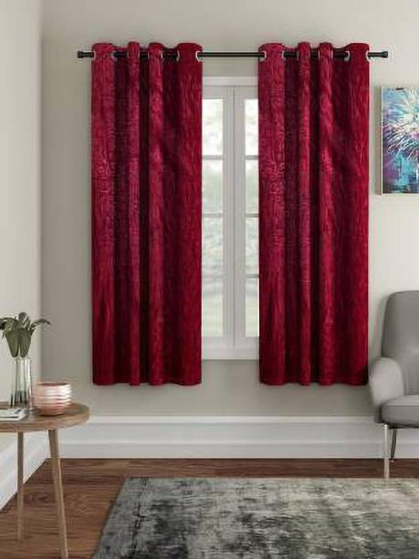 Flipkart Perfect Homes 150 cm (5 ft) Polyester Window Curtain (Pack Of 2)