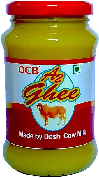 OCB A2 Ghee Made By Deshi(Gir) Cow Milk For Home Made Ghee 500 ml Glass Bottle