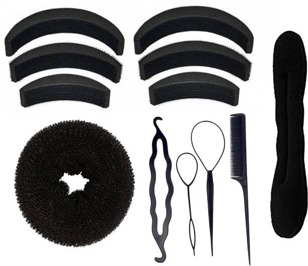 BELLA HARARO Hair Styling Tools Bun Maker Combo Offer (Combo of 12 Pieces) Hair Accessory Set
