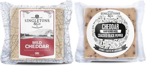 Singletons & Co Mild White & Cracked Black Pepper Cheddar Cheese Combo Pack 400 g