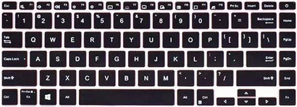 Saco Keyboard Protector Silicone Skin Cover for Asus A Bean Adolbook 14 2020 Laptop - Black Laptop Keyboard Skin