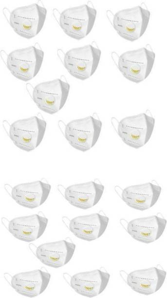 REGARDS N95 Face Masks with 5 Layers of protection, for Kids, Men and Women - Reusable Washable and Non-woven - Pack of 10 (White) N95 Face Masks with 5 Layers of protection, for Kids, Men and Women - Reusable Washable and Non-woven - Pack of 20 (White) Cloth Mask With Melt Blown Fabric Layer