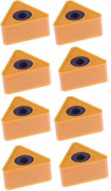 WON ABS Injection Molding Triangular Interview Mic Microphone Logo Flag Station Logo -Orange PACK OF 8 Logo Flag