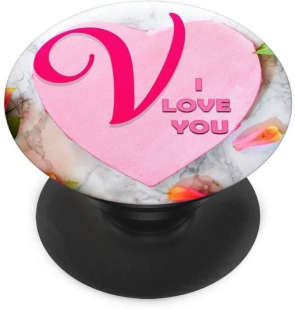 redfly Finger Grip/Selfie Mobile Holder, and Heart for V ilove you Mobile Holder