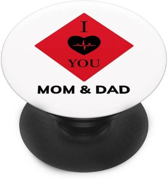 redfly Finger Grip/Selfie Mobile Holder, and Heart for I love you mom dad Mobile Holder