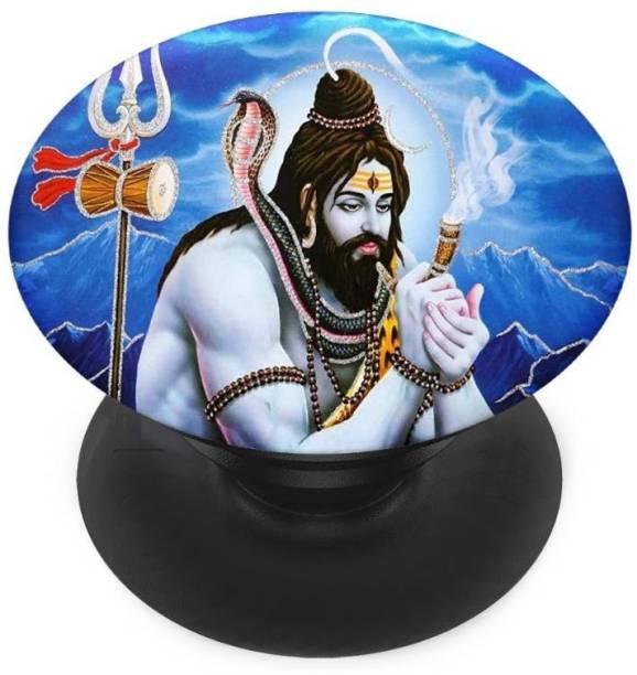 redfly Finger Grip/Selfie Mobile Holder, and Heart for Shiv in himaliyan, Shiv Damru Mobile Holder