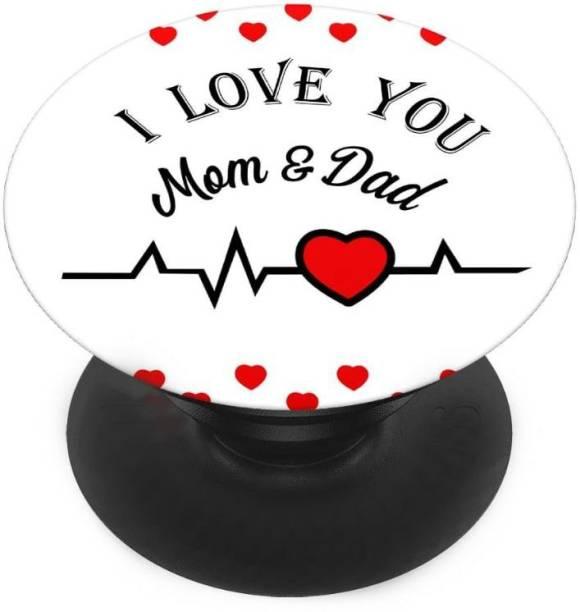 INDIALAND Finger Grip/Selfie Mobile Holder, and Heart for I love you mom dad New Mobile Holder