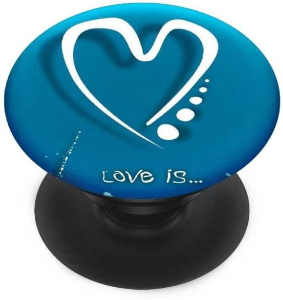 Sswastik Finger Grip/Selfie Mobile Holder, and Heart for,Girls, Love is Dil Mobile Holder