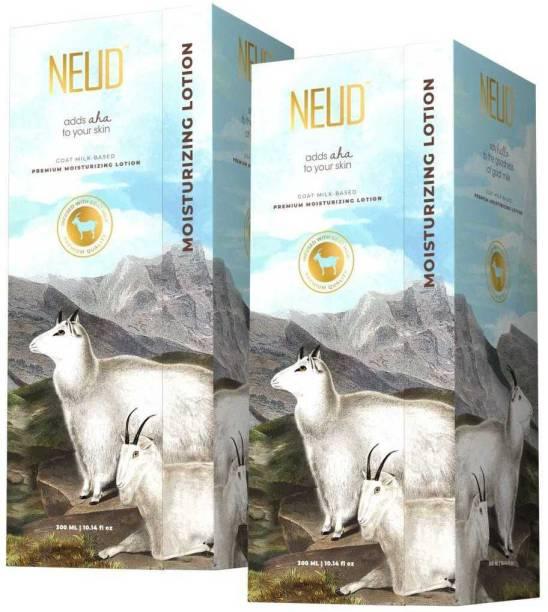 NEUD Goat Milk Premium Moisturizing Lotion for Men & Women - 2 Packs (300ml Each)