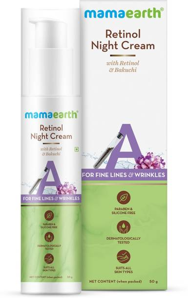 MamaEarth Retinol Night Cream For Women with Retinol & Bakuchi for Anti Aging, Fine Lines and Wrinkles
