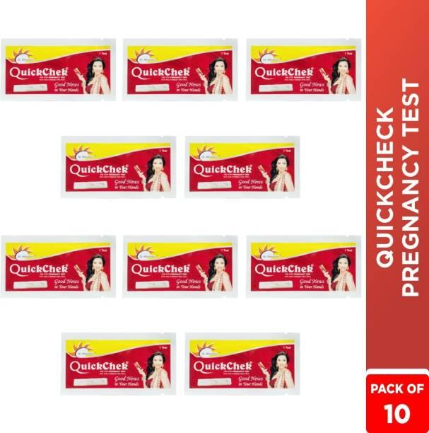 Dr. Morepen Quickchek Pregnancy Test Kit Pack of 10 Digital Pregnancy Test Kit