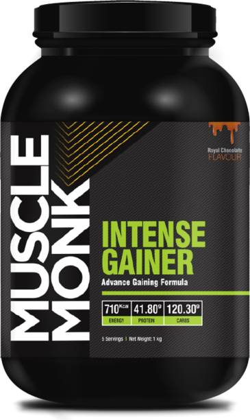 MuscleMonk Mass Gainer with 120.3 G Carbs 710 kcal 41.8 G protein Chocolate Flavor 1 Kg Whey Protein