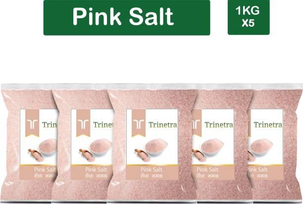 Trinetra Best Quality Pink Salt (Sendha Namak)-1Kg (Pack Of 5) Himalayan Pink Salt