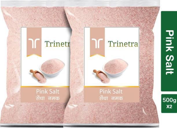 Trinetra Best Quality Pink Salt (Sendha Namak)-500gm (Pack Of 2) Himalayan Pink Salt