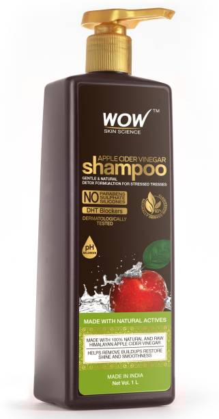 WOW SKIN SCIENCE Apple Cider Vinegar No Parabens & Sulphate Shampoo, 1000mL