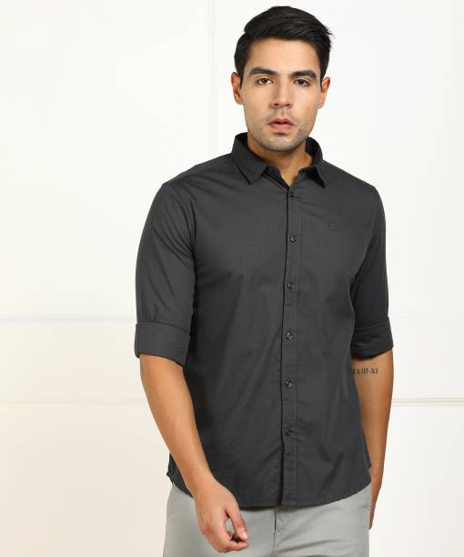 Billion Men Solid Casual Grey Shirt