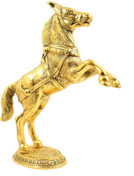 Pinkcity Forever Standing Horse Statue Metal Horse Showpiece for Home Decor for Vastu Wealth, Income, Shining and Bright Future Decorative Showpiece Decorative Showpiece  -  26.5 cm
