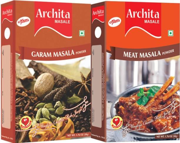 Archita Garam Masala Powder(50 gram) & Meat Masala Powder(50 gram) Pack of 2