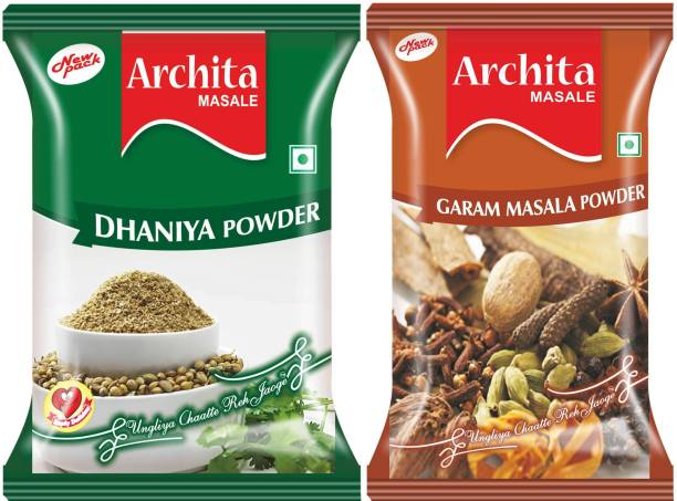 Archita Dhaniya Powder(100 gram) & Garam Masala Powder(100 gram) Pack of 2 Pouch