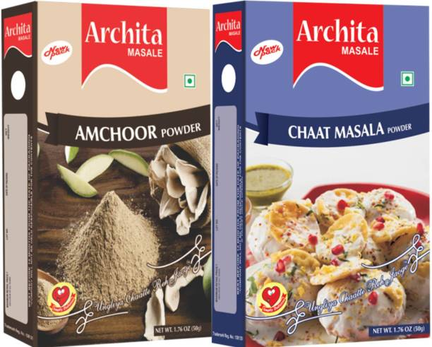 Archita Amchoor Powder(50 gram) & Chaat Masala Powder(50 gram) Pack of 2
