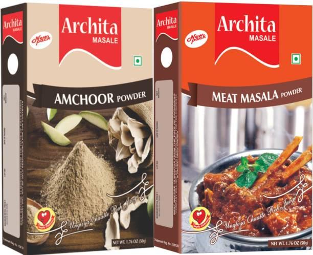 Archita Amchoor Powder(50 gram) & Meat Masala Powder(50 gram) Pack of 2