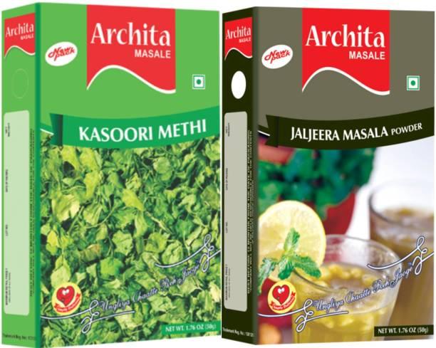 Archita Kasoori Methi(50 gram) & Jaljeera Masala Powder(50 gram) Pack of 2