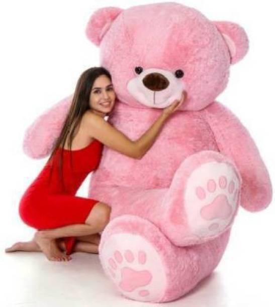 vtb retail stuffed toys 4 feet pink teddy bear / high quality / love teddy For girls valentine & Anniversary gift / cute and soft teddy bear -122 cm (Pink)  - 122 cm