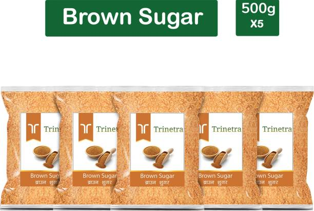 Trinetra Best Quality Brown Sugar-500gm (Pack Of 5) Sugar