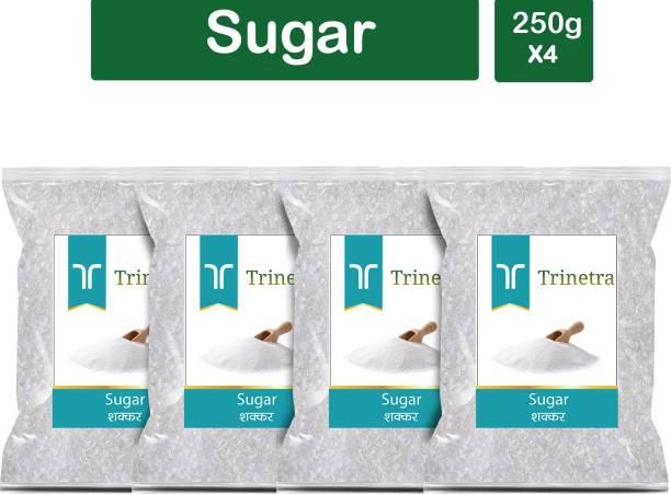 Trinetra Best Quality White Sugar-250gm (Pack Of 4) Sugar