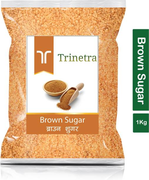 Trinetra Best Quality Brown Sugar-1Kg (Pack Of 1) Sugar