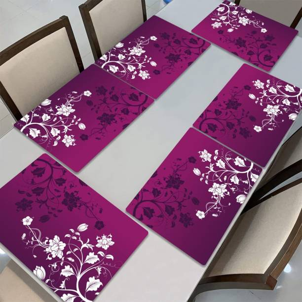 BcH Rectangular Pack of 6 Table Placemat