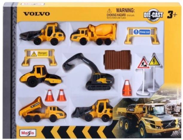 Maisto Volvo Construction Play Set
