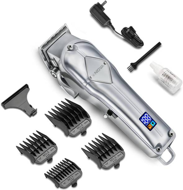 NOVA Professional Cordless NHT 1068 Hair Clipper  Runtime: 240 min Trimmer for Men