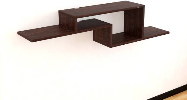 Flourish Alfric Engineered Wood TV Entertainment Unit (Finish Color - Brown, DIY(Do-It-Yourself) Wooden Wall Shelf
