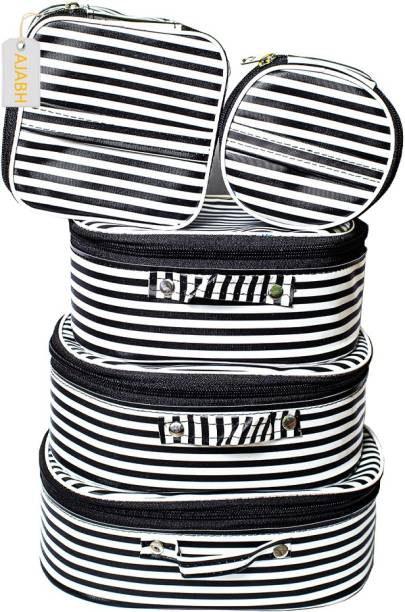 Ajabh High Quality Multipurpose Set Of 5 Pc Cosmetic Storage Box Vanity Box With Mackup Kit Storage Box / Mackup Organizer Vanity Box