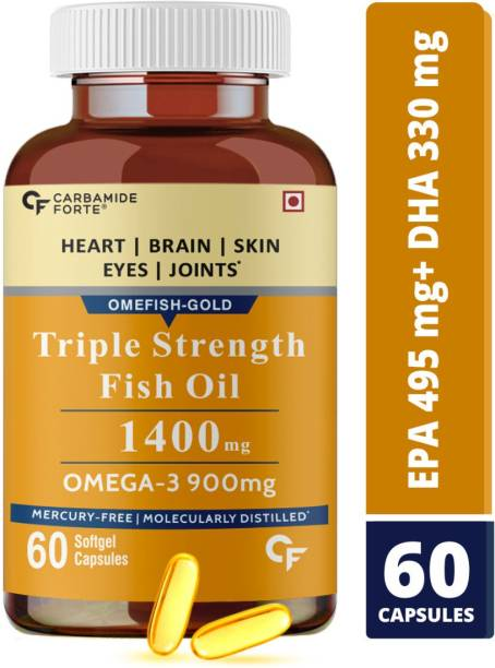 CF Triple Strength Fish Oil 1400mg with Omega 3 900mg Capsules for Men & Women