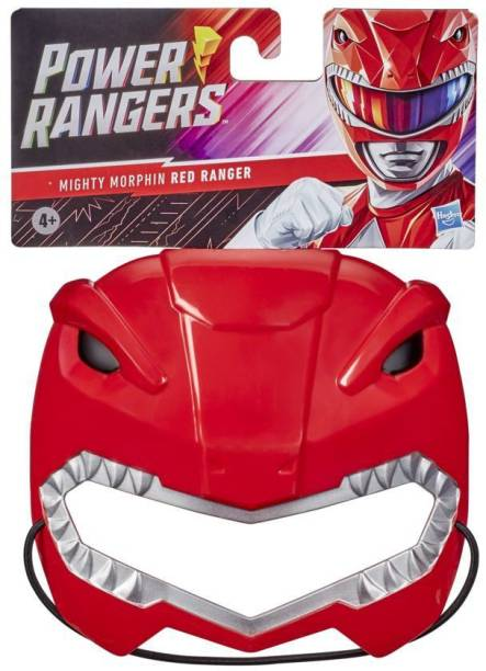 Power Rangers Mighty Morphin Red Ranger Mask for Roleplay, Ages 5 and Up, Great Halloween Costume, Dress Like a Ranger
