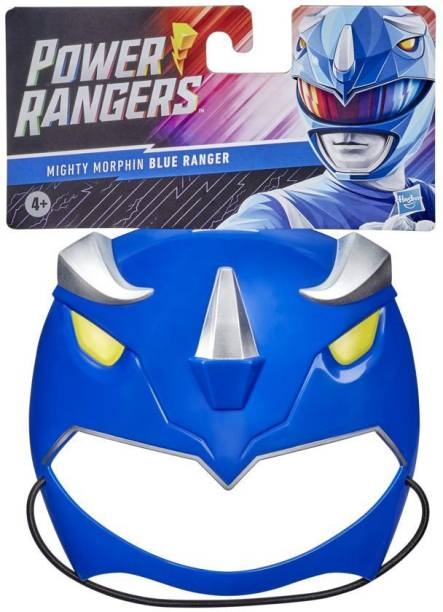 Power Rangers Mighty Morphin Blue Ranger Mask for Roleplay, Ages 5 and Up, Great Halloween Costume, Dress Like a Ranger