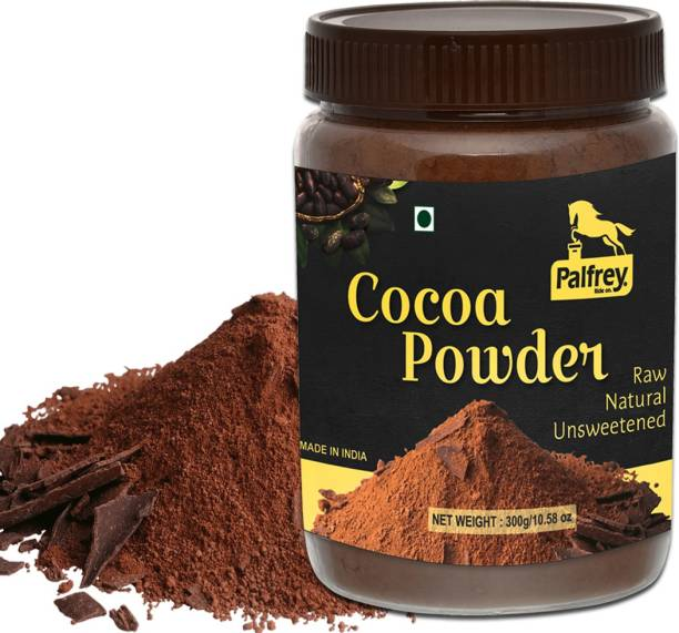PALFREY Unsweetened & Natural 300g Cocoa Powder for Making Chocolate Cake, Cookies, Chocolate Bread, Shake, Brownies, Chocolate Desserts | Vegan, Keto & Gluten Free With Jar Cocoa Powder