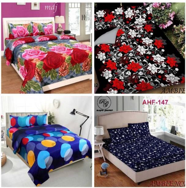 A11 M@LL 140 TC Cotton Double 3D Printed Bedsheet