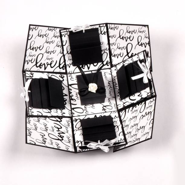 Crafted with passion Valentine's day gift box  explosion box for anniversary  birthday greeting card Greeting Card