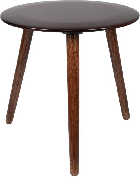 Amaze Shoppee Round Coffee Table with Tripod Legs|Side Table|End Table|Portable Tables for Living Room Decor |Center Table Decor and Home Decoration Furniture (Walnut) Engineered Wood Coffee Table