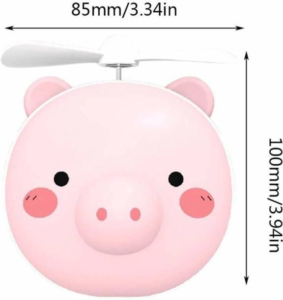 ShutterBugs in 1 Cartoon LED Makeup Mirror Light with USB Mini Fan