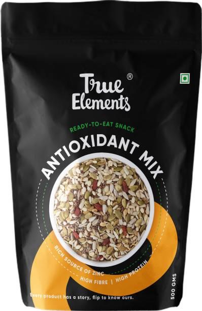True Elements Antioxidant Roasted Mix Seeds - Sunflower, Pumpkin, Flax, Watermelon, Chia, Goji berries