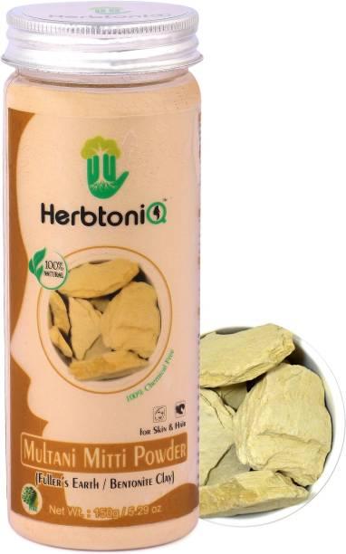 HerbtoniQ 100% Natural Multani Mitti Powder For Face Pack And Hair Pack (Fuller's Earth/Bentonite Clay)